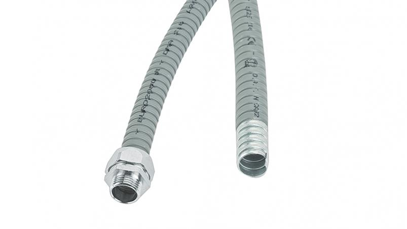 DMA-PVC - Metal conduit, Galvanized steel, PVC coated