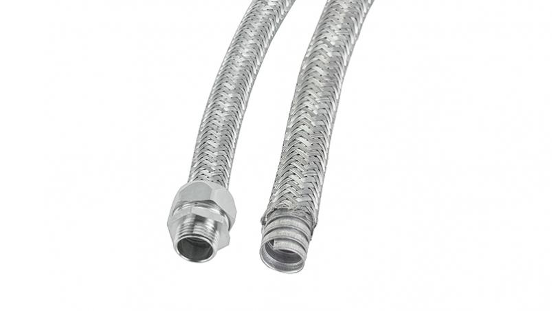 DMTN - Metal conduit, Galvanized steel, overbraided with galvanized steel wires