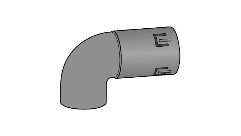 Inlet elbow, 90 degree FF-Drän