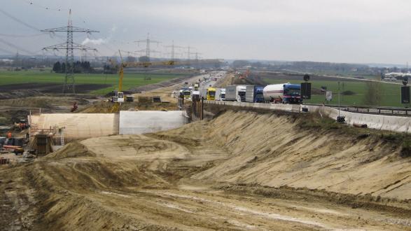Entwässerung der BAB A8 Augsburg-München