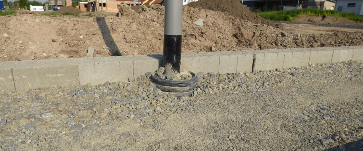 Pole foundation conduit to embed poles and masts