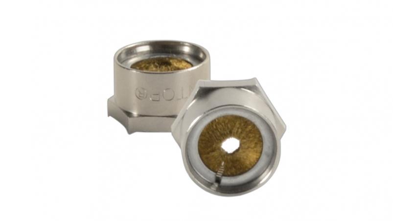 ENTBN-M-C - Locknut hexagon, brass nickel-plated, metric, EMC-Brush