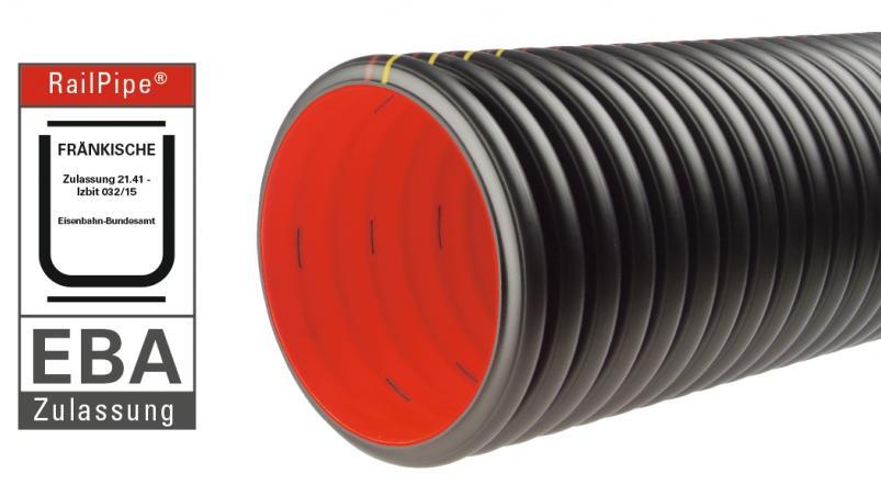RailPipe® drainage pipe - EBA certified