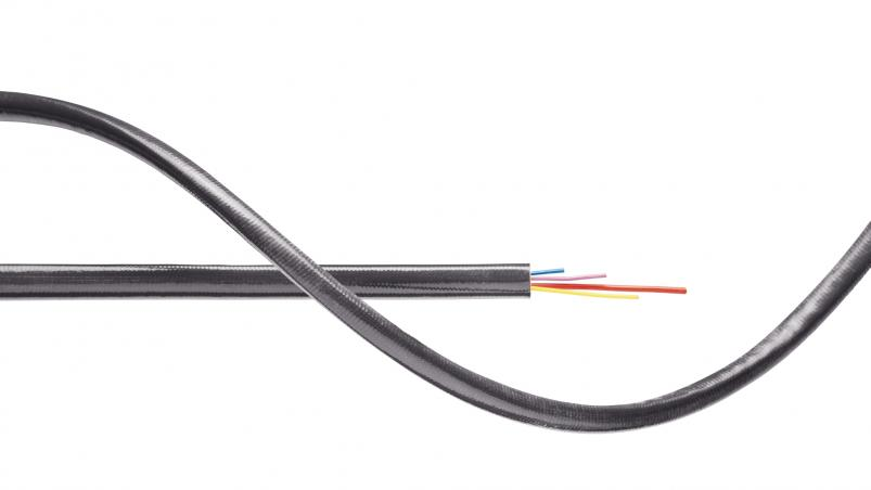 G0TS - glass fiber silicone braided hose with graphite component