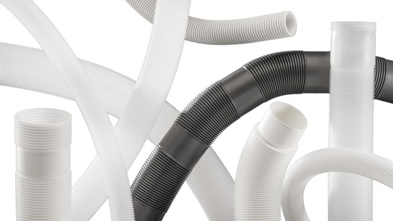 Corrugated tubes for exhaust technology