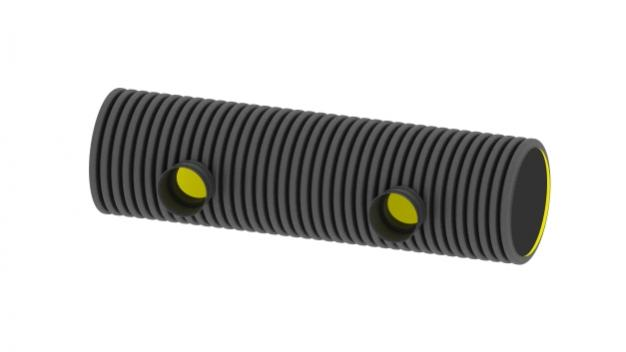 Distribution pipe 2-fold open on one side