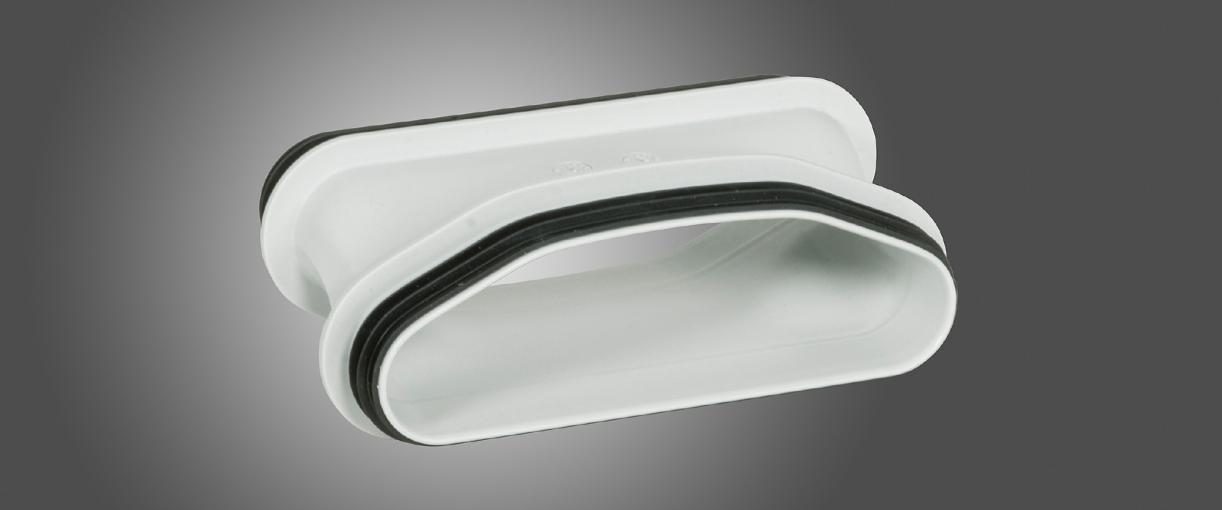 Новый фитинг для поперечного сечения трубы с поворотом