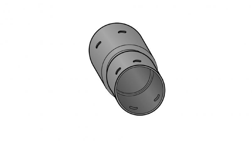 Reducing coupling PE-drän