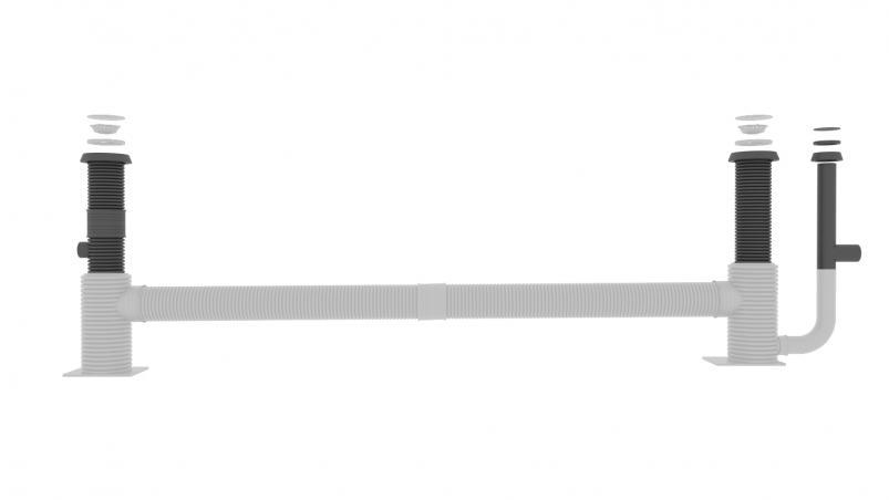 Kit de raccordement SediSubstrator L pour 600/12+12