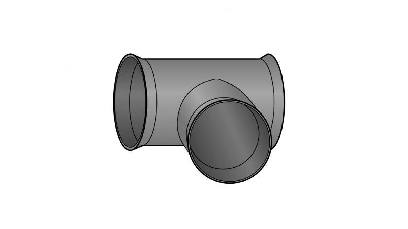 Tee Muri-pipe DN 200