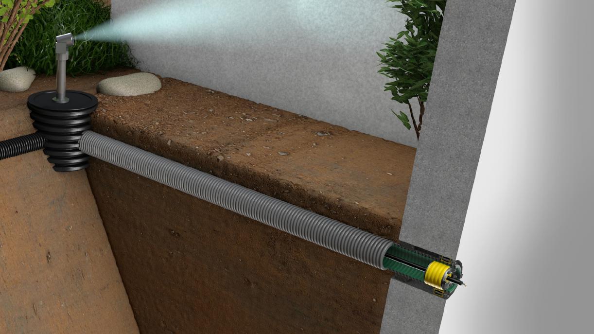 Gas- und druckwasserdichte  Gebäudeeinführung