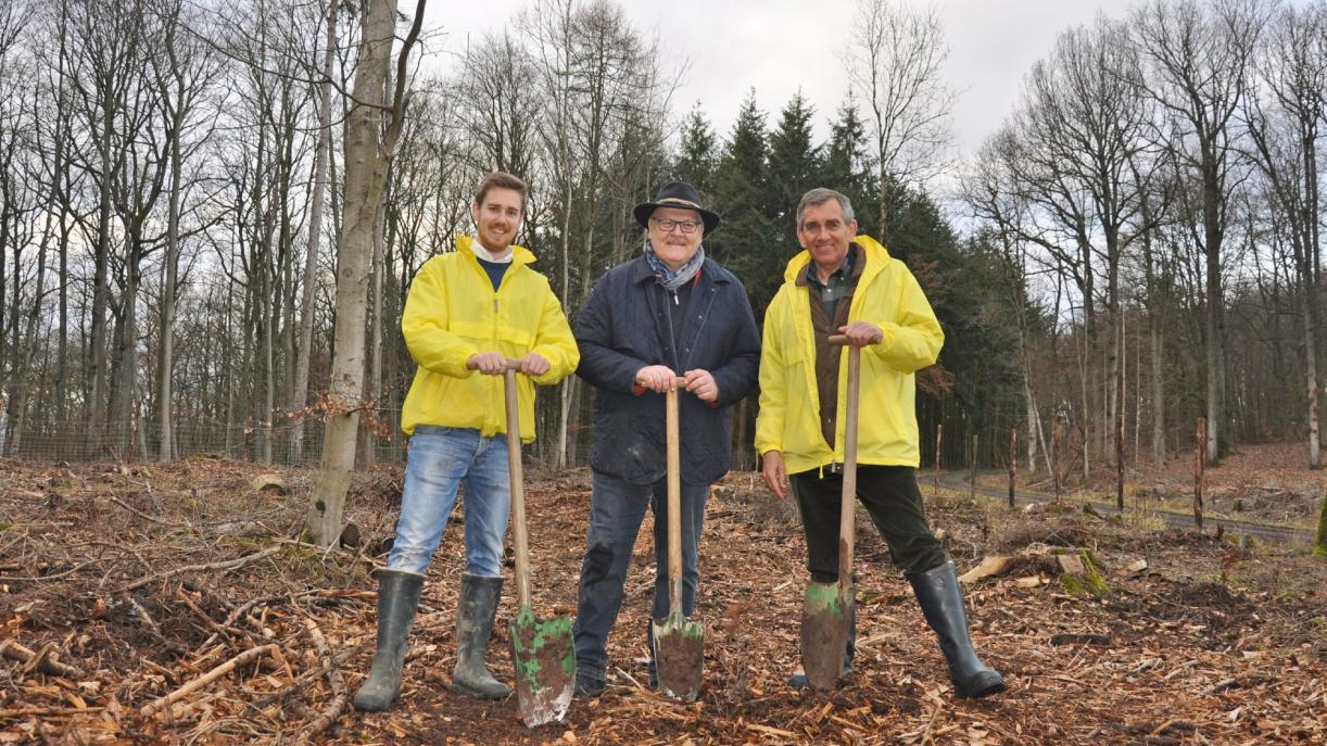 FRÄNKISCHE executives plant trees to fight climate change