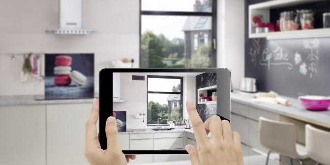 Using augmented reality to select ventilation design