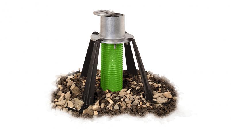 Tree ventilation and irrigation set