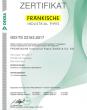 ZERTIFIKAT –ISO TS 22163 (de)