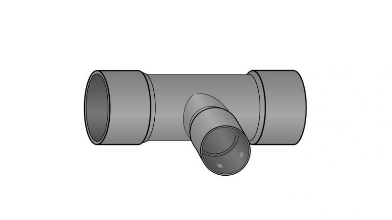T-Stück mit Reduzierung FF-drän