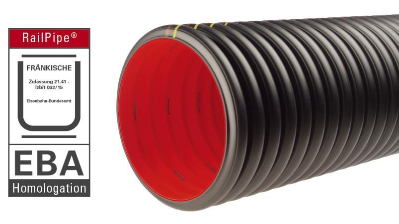 Tube de drainage RailPipe® avec homologation EBA