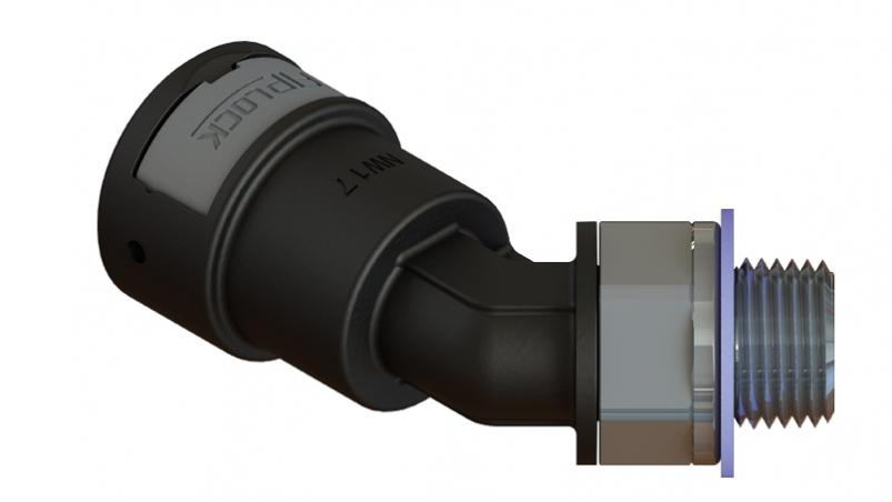 AAPA-NPT-S - Anschlussverschraubung 45° drehbar, NPT, Metallgewinde