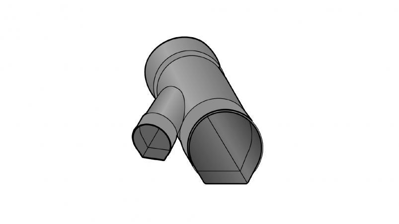 Abzweig 45° mit Reduzierung links Strasil
