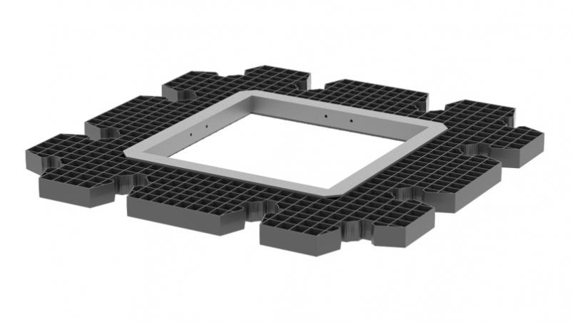 QuadroControl ST-B supporting grid