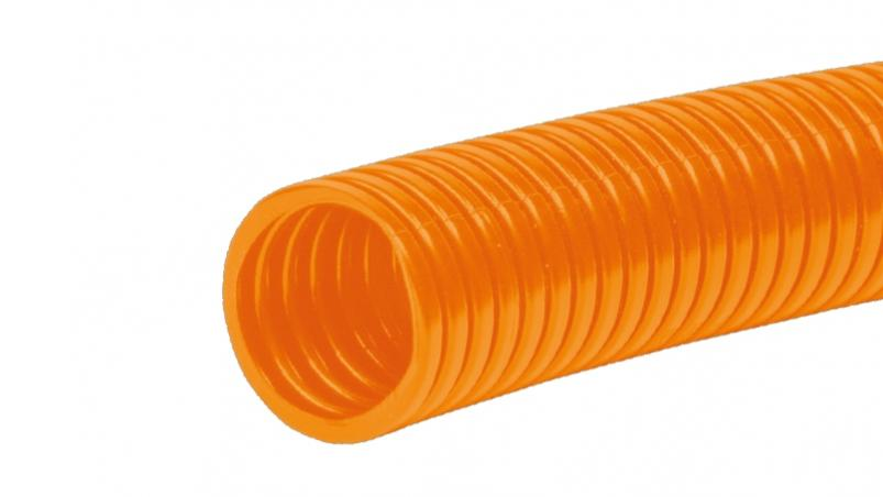 FETS-O - Corrugated conduit in orange colour for high and continuous temperature applications, ETFE orange similar to RAL 2003