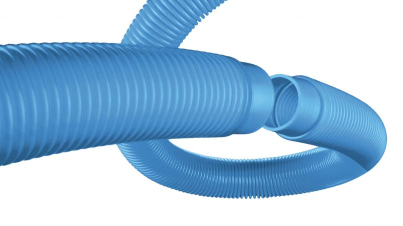 Corrugated tubing for swimming pools