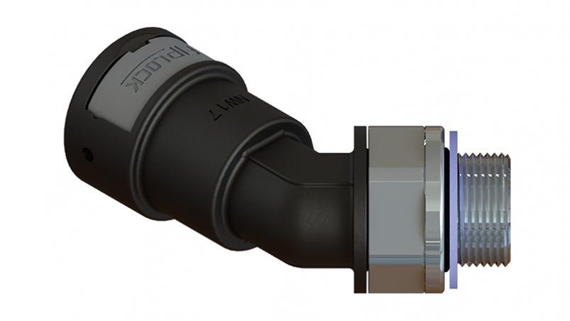 AAPA-PGM-S – připojovací šroubení 45°, otočné, PG, kovový závit