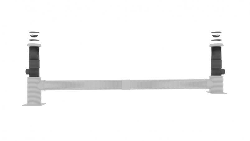 Kit de raccordement SediPipe® L | SediPipe® L plus pour hauteurs de rembais supérieures à 2,5m