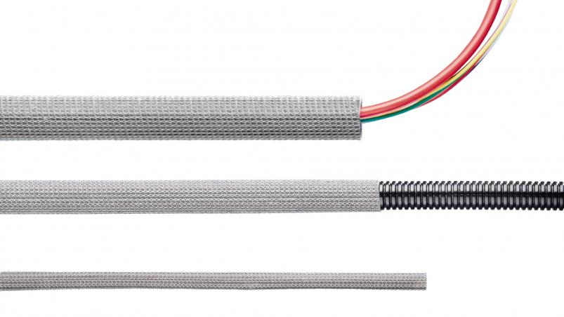MTP – glass fiber hose with V2A knitting and impregnation